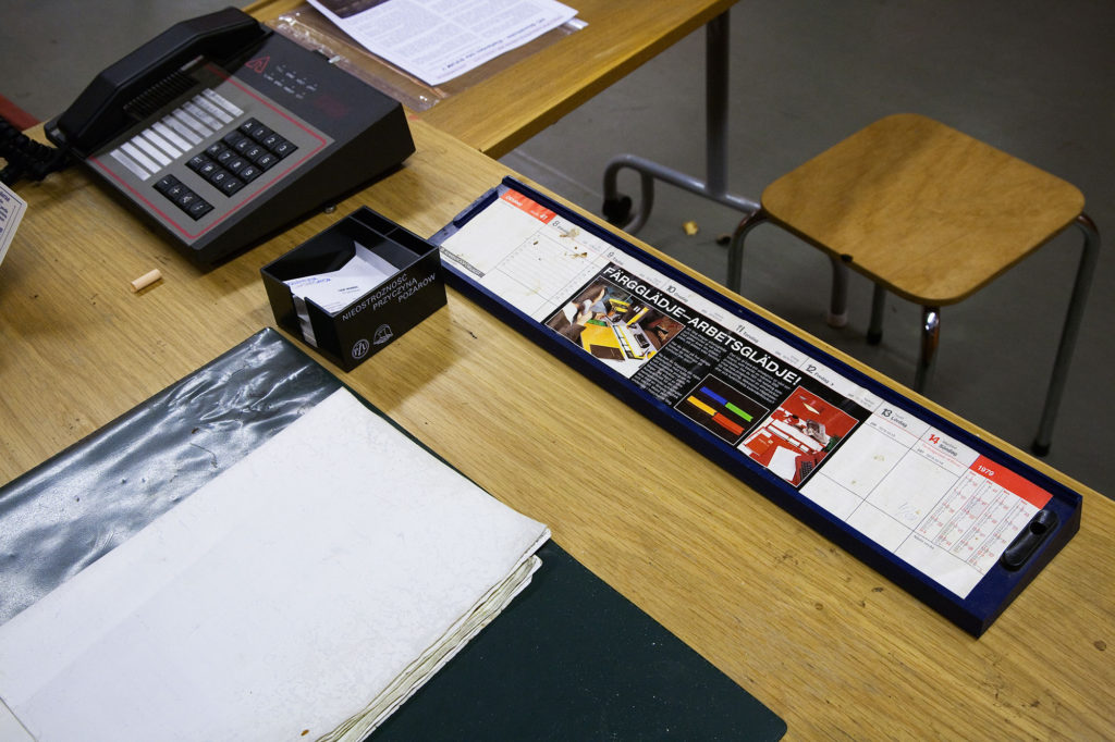 Entrévaktens skrivbord